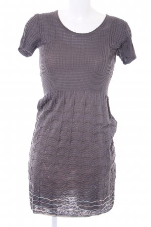 Missoni Strickkleid grau Lochstrickmuster Casual-Look