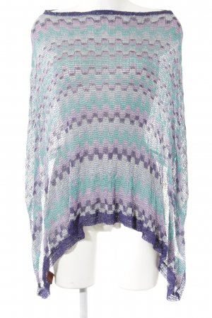 Missoni Gebreide poncho abstract patroon casual uitstraling