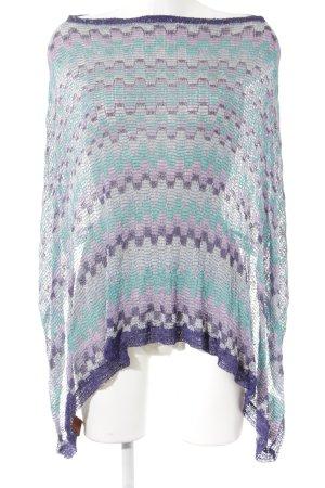 Missoni Poncho in maglia motivo astratto stile casual