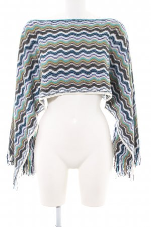 Missoni Strickponcho Allover-Druck Casual-Look