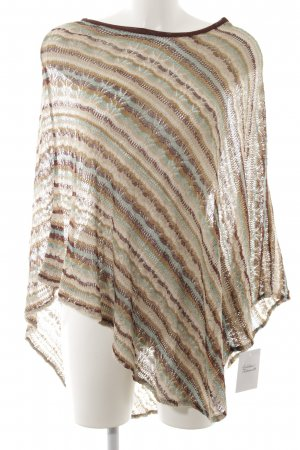 Missoni Strickponcho Streifenmuster Casual-Look
