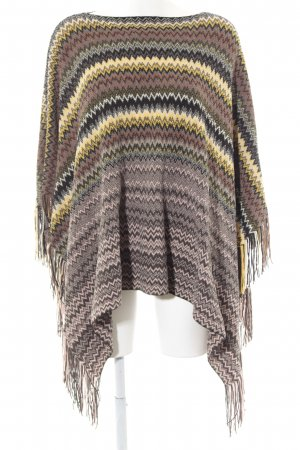 Missoni Strickponcho Zackenmuster Casual-Look