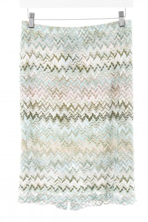 Missoni Strickrock abstraktes Muster extravaganter Stil