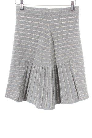 Missoni Gebreide rok lichtgrijs-grijs-groen college stijl