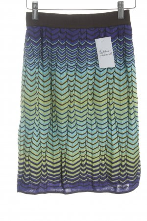 Missoni Strickrock Zackenmuster Casual-Look