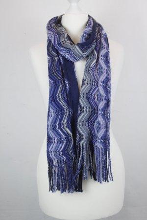 MISSONI Strickschal Schal blau gemustert (MF/R)