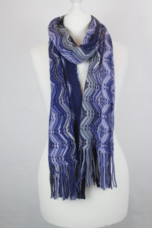Missoni Knitted Scarf blue mixture fibre