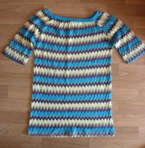 Camicetta all'uncinetto multicolore Fibra tessile