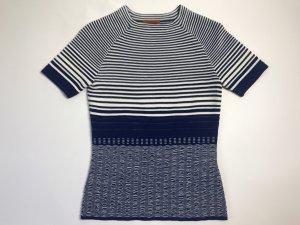 Missoni Jersey de manga corta blanco-azul rayón