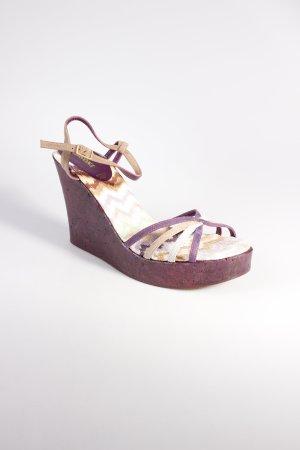 Missoni Wedges Sandaletten mehrfarbig Korkelemente