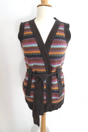 Missoni Long Knitted Vest multicolored wool