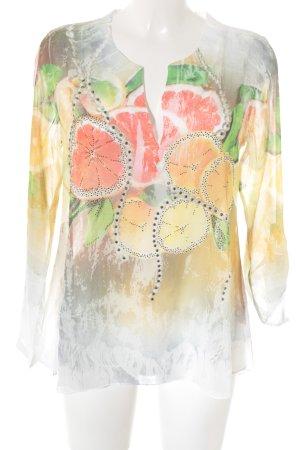 MIssy Langarm-Bluse abstraktes Muster Street-Fashion-Look