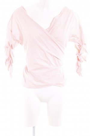 MissyEmpire Wraparound Blouse light pink casual look