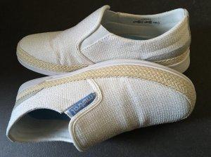 Slip-on multicolore fibre textile