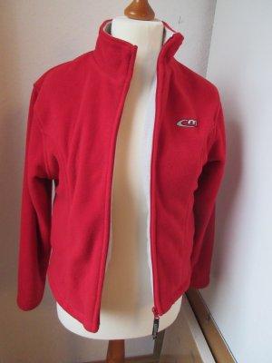 Fleece Jackets neon red-natural white mixture fibre
