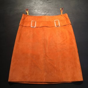 BC Collection Leather Skirt orange leather