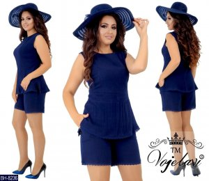 Twin set in jersey blu Cotone