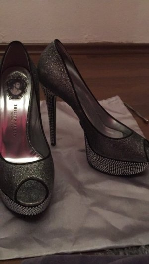 Philipp Plein High Heels silver-colored-grey