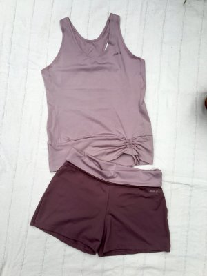 Mitch & Co. Short de sport gris lilas-vieux rose polyamide