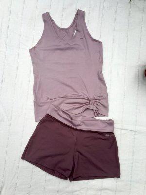 Mitch & Co. Sportshort grijs-lila-stoffig roze Polyamide
