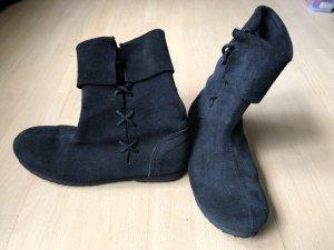 Bottes à lacets noir cuir