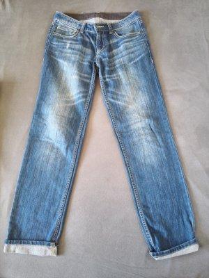 Mittelblaue Boyfriend Jeans