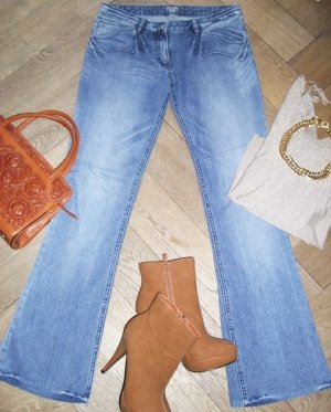 Mittelblaue Joop! Lowwaist-Jeans mit leichtem Bootcut, W28/L34
