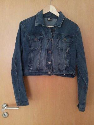 Mittelblaue kürzere Jeansjacke von ONE by Street One