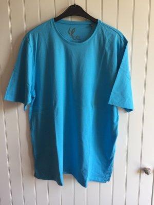 Mittelblaues T-Shirt (basic fit) der Marke Ulla Popken in Gr. 46/48