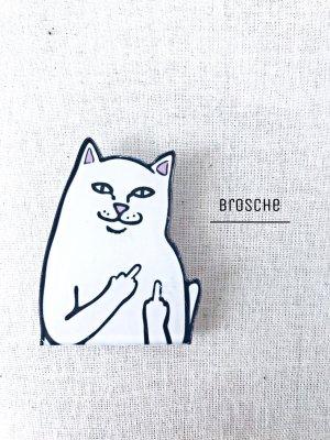 Mittelfinger Katze Fuck Cat Brosche NEU Fame Katzen Pin Anstecker Button Lord / Etsy