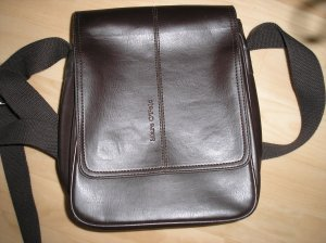 Mittelgroße Handtasche Lederoptik braun Marc O'Polo