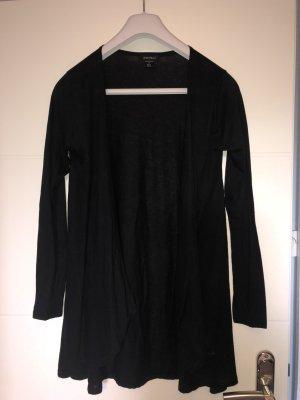 Mittellanger Cardigan in schwarz