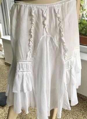 Miu Miu Flounce Skirt white