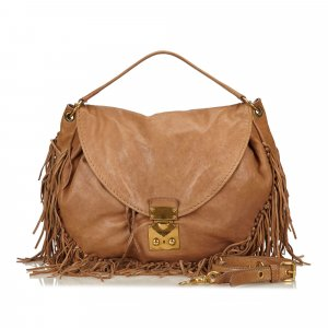 Miu Miu 2 Way Leather Fringe Bag