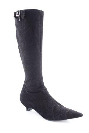 Miu Miu Absatz Stiefel schwarz klassischer Stil