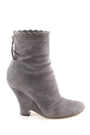"Miu Miu Ankle Boots ""CAMOSCIO"" hellgrau"