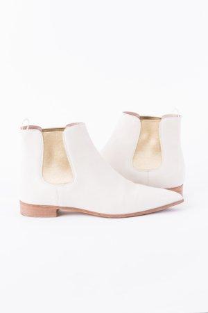 MIU MIU - Ankle Boots Beige-Gold