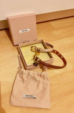 Miu Miu Armband 2 Armbänder rose braun Gold