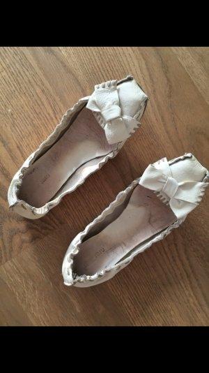 Miu Miu Ballerina; Leder, creme; Gr.39,5