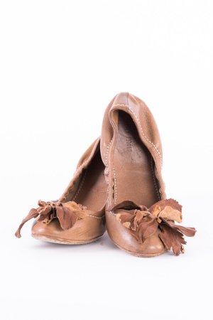 Miu Miu Ballerina pieghevole marrone Pelle