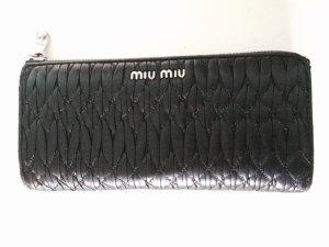 Miu Miu Bandoleria Portemonnaie schwarz