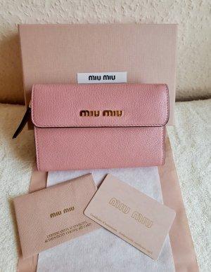 Miu Miu Portemonnee roze Leer
