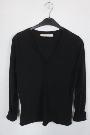MIU MIU Bluse Gr. XL schwarz mit V-Ausschnitt (18/5/153)