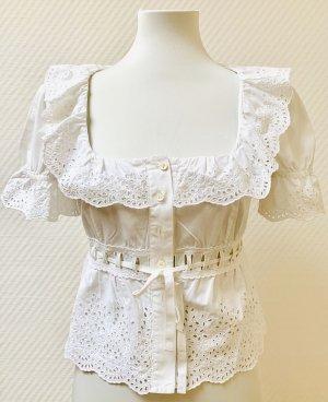 Miu Miu Ruche blouse wit
