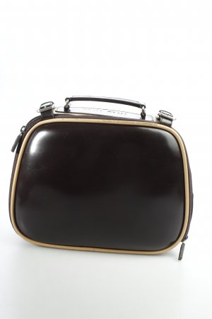 Miu Miu Bowlingtasche dunkelbraun-creme extravaganter Stil
