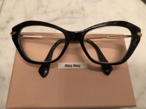 Miu Miu Occhiale nero-oro