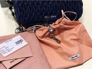 Miu Miu by Prada Bandoliera Denim Leder Handtasche
