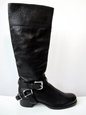 Miu Miu Boots black-silver-colored leather