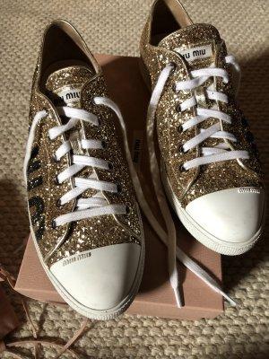 Miu Miu Lace-Up Sneaker multicolored