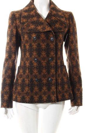 Miu Miu Pea Jacket black-ocher embellished pattern retro look